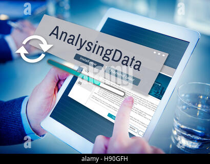 Analysing Data Information Analysis Assessment Concept - Stock Photo