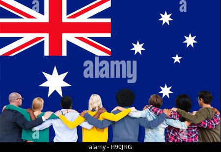 Australia Flag Country Nationality Liberty Concept - Stock Photo