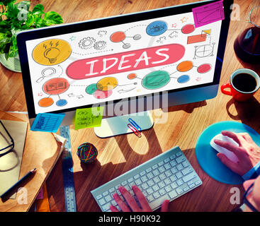 Ideas Mission Imagination Icons Vision Concept - Stock Photo