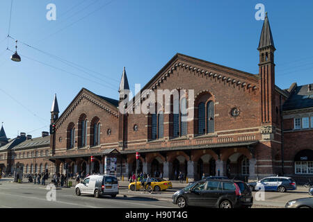 Central railway station Copenhagen, Denmark, Scandinavia - Stock Photo