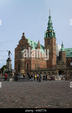 Frederiksborg Castle in Hillerod, Denmark - Stock Photo