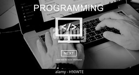 Programming Applications Computer Digital Technology Concept - Stock Photo