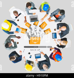 Cloud Networking Computing Back Up Concept - Stock Photo