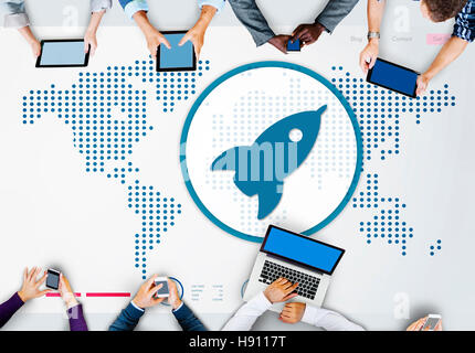 Startup Launch New Business Growth Success Concept - Stock Photo