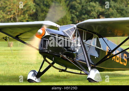 de Havilland DH.80A Puss Moth G-ABLS at the Old Warden Air Show - Stock Photo