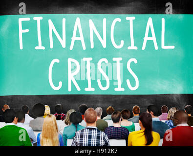 Financial Crisis Bankruptcy Depression Finance Concept - Stock Photo