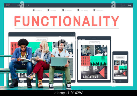 Functionality Practical Purpose Suitable Technology Concept - Stock Photo