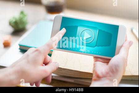 Applications Apps Multimedia Invention Devices Concept - Stock Photo