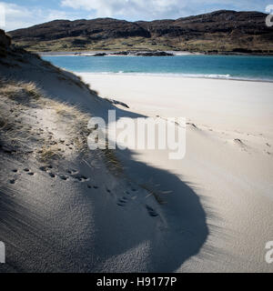Husinish, Isle of Harris Beach, Dunes, Water, turquoise sea, Outer Hebrides, Scotland, North of Scotland, Beaches, - Stock Photo
