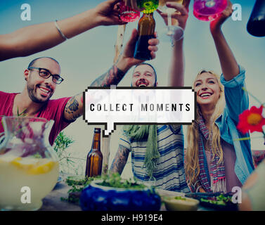Capture Collect Moments Not Things Experience Concept - Stock Photo