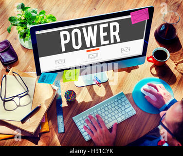 Power Potential Competence Competency Energy Concept - Stock Photo