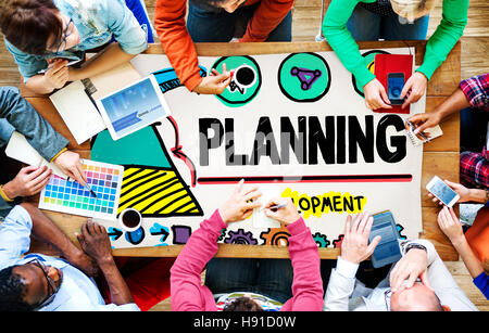 Planning Plan Strategy Growth Development Concept - Stock Photo
