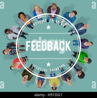 Feedback FAQ Commenting Evaluate Opinion Reply Concept - Stock Photo