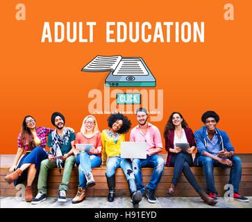 Adult Education Advisory Age Limit Blocked Concept - Stock Photo