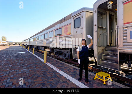 The  Grand Canyon Railway in Williams Arizona - Stock Photo