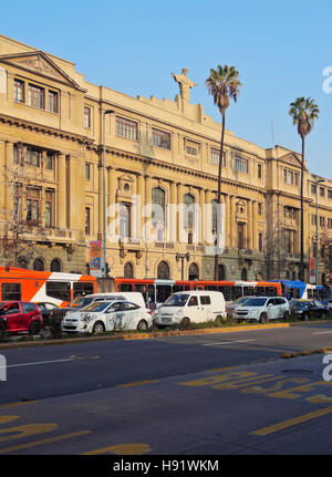 Chile, Santiago, Liberador Avenue, View of the headquarters of the Pontifical Catholic University of Chile. - Stock Photo