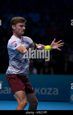 London, UK. 17th Nov, 2016. David Goffin (BEL) play the third match of Group Ivan Lendl at ATP Finals in UK. Credit: - Stock Photo