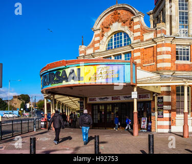 Kursaal amusement arcade for playing games, pool, slot machines, bowling in Grade 11 listed building Southend-on - Stock Photo