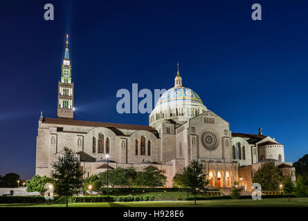 The Basilica of the National Shrine of the Immaculate Conception. - Stock Photo