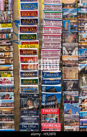 Variety of tourist travel guide books for Italian destinations. - Stock Photo