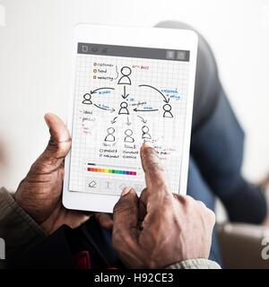 People TEam Work Organization Plan Concept - Stock Photo