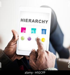 Hierarchy Leader Team Diagram Concept - Stock Photo