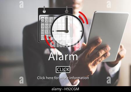Alarm Appointment Organizer Plan Reminder Concept - Stock Photo