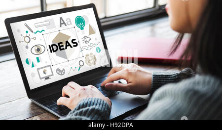 Ideas Innovation Graphic Inspiration Artistic Concept - Stock Photo