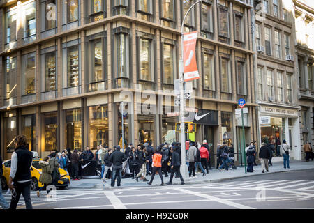 ... The new Nike store prior to its grand opening in Soho in New York on  Friday