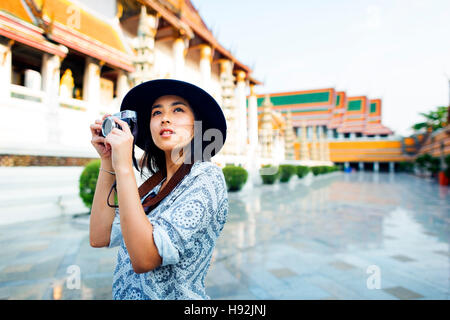 Photographer Travel Sightseeing Wander Hobby Recreation Concept - Stock Photo