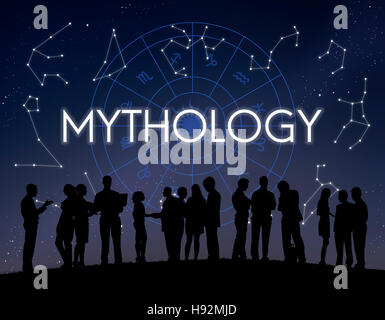 Mythology Cosmos Universe Star Concept - Stock Photo