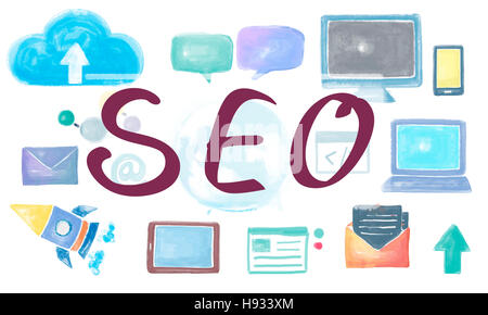 SEO Search Engine Optimization Browsing Searching Concept - Stock Photo