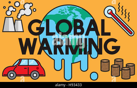 Global Warming Climate Environmental Industry Concept - Stock Photo
