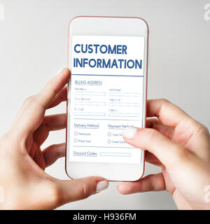 Invoice Billing Information Form Graphic Concept - Stock Photo