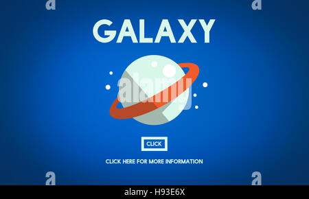 Galaxy Astrology Planet Gravity Concept - Stock Photo