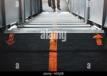 Staircase Station Walking Signs concept - Stock Photo