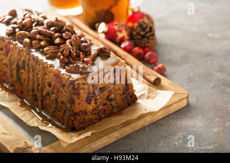 Traditional English steamed pudding - Stock Photo