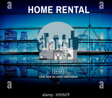 Home Rental House Property Rent Concept - Stock Photo