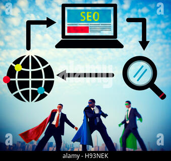 SEO Search Engine Optimization Digital Computer Internet Concept - Stock Photo