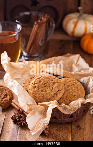 Pumpkin cinnamon snickerdoodle cookies - Stock Photo
