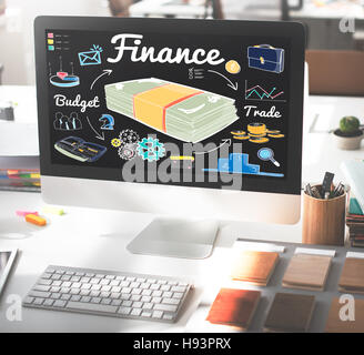 Finance Money Debt Expenditure Trade Concept - Stock Photo