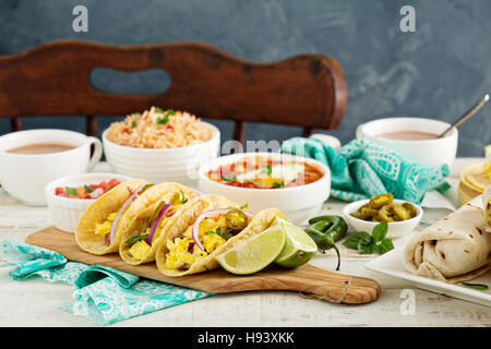 Breakfast tacos with eggs - Stock Photo