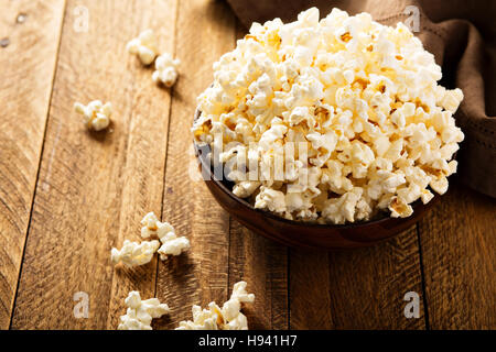 Popcorn in red cups - Stock Photo