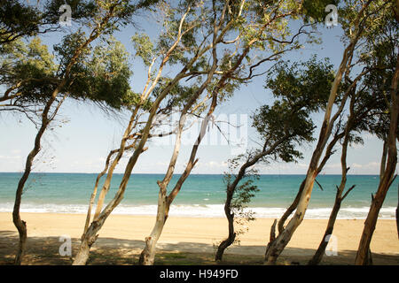Beach, Calabria, Italy, Europe - Stock Photo