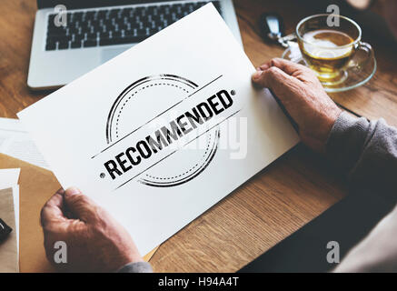 Recommended Offer Refer Satisfaction Suggestion Concept - Stock Photo
