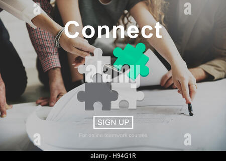 Connect Interaction Team Teamwork Concept - Stock Photo