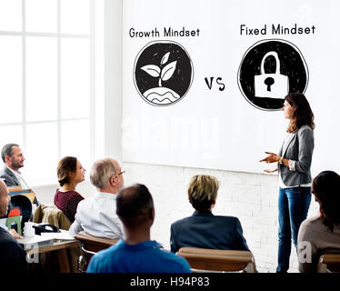 Mindset Opposite Positivity Negativity Thinking Concept - Stock Photo