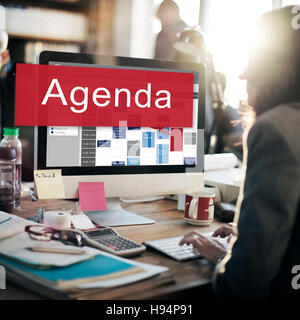 Agenda Apppointment Goals Information List Plan Concept - Stock Photo