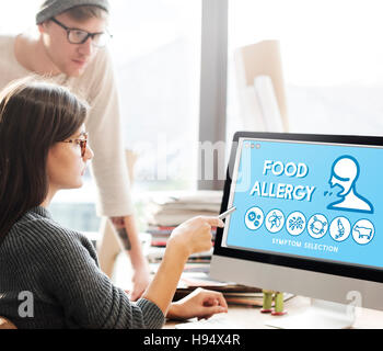 Food Allergy Disorder Sickness Healthcare Concept - Stock Photo