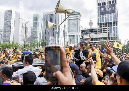 Kl, KL, Malaysia. 19th Nov, 2016. Malaysia Former Prime Minister, Tun Dr Mahathir Mohamad during Bersih 5.0 rally. - Stock Photo
